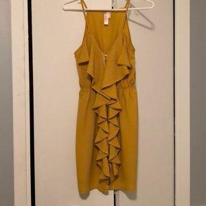 Mustard Yellow Ruffle Dress